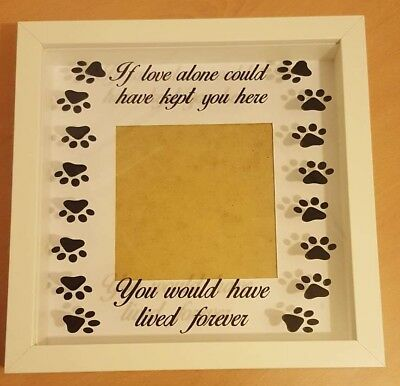 Dog cat pet memory/remembrance frame, handmade