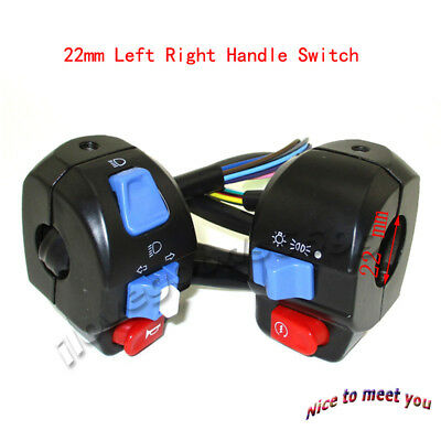 Scooter 22mm Left Right Handle Switch Control For GY6 50cc 125cc 150cc Moped