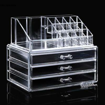 kosmetik organizer make up acryl aufbewahrung beauty kosmetikbox 3 schubladen eur 14 45. Black Bedroom Furniture Sets. Home Design Ideas