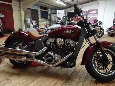 2018 Indian Scout in Burgundy Metallic or Metallic Jade - 5 YEAR WARRANTY