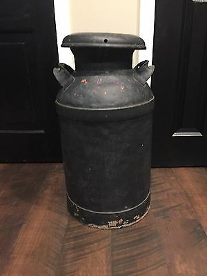Antique Vintage Dairy Milk Can Primitive Farm Yard Decor