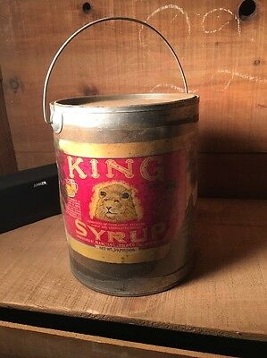Rare Early 1900s King Syrup 10 Pound Syrup Pail