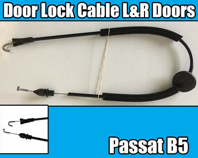 Vw Passat B5 Door Lock Latch Bowden Cable Front Right Or Left 1996-2005