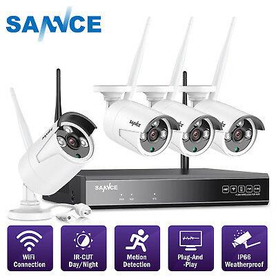 ANNKE 4CH 1080P NVR 720P Wireless WIFI Security IP Camera System Network Motion