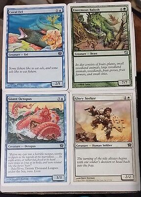 MTG 9th Ed 4 cards Magic the Gathering 2005 Coral Eel, Glory Seeker, & 2 others