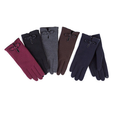 Isotoner Ladies Smartouch Thermal Glove with Pu Knot
