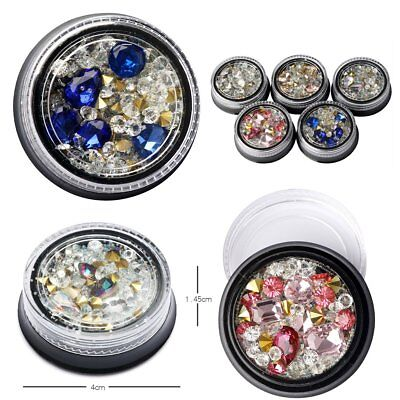 3D Nail Art Rhinestones Glitters Beads Acrylic Tips Decoration Manicure Wheel