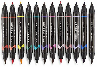 Prismacolor Premier Double-Ended Art Markers, Fine and Brush Tip, 24-Count with