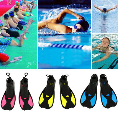 AS_ Kids Adults Full Foot Water Fins Diving Swim Training Learning Flippers Eyef