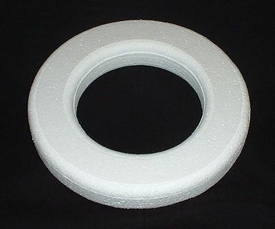 FLORACRAFT FLOW14WS  STYROFOAM WREATH RING BEV PKG 14 WHITE