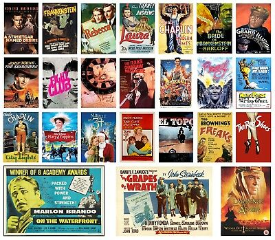 CLASSIC CULT FILM MOVIES Poster Options A4 A3 Print  BUY 1 GET 2 FREE