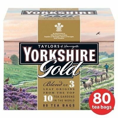 Yorkshire Gold Teabags - 80 per pack (0.55lbs)