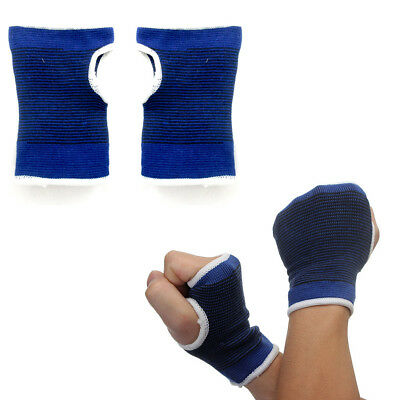 2 Palm Hand Wrist Support Brace Thumb Wrap Elastic Pain Relief Sports One Size