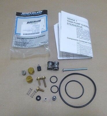 Quicksilver Mercruiser 18545A 1 18545A1 Power Trim Pump Rebuild Overhaul Kit