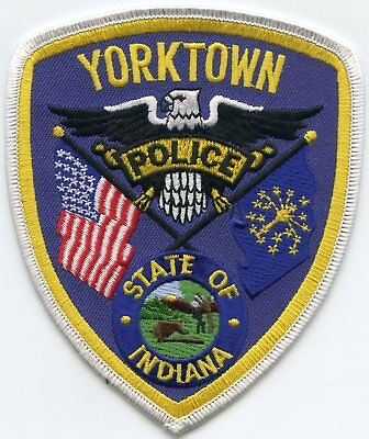 YORKTOWN INDIANA IN state flag POLICE PATCH