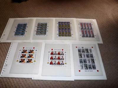 Isle Of Man-Great Collection Of Sheetlets-1986 Stockholmia-Wwf Etc-Fine Used-2