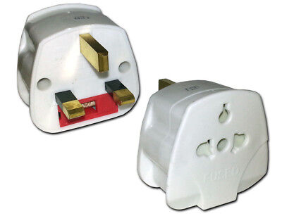 USA Europe Japan to UK England 2 Pin to 3 Pin Travel Tourist Adaptor Plug ES988