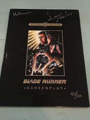 Blade Runner hand signed screenplay plus free gift with purchase