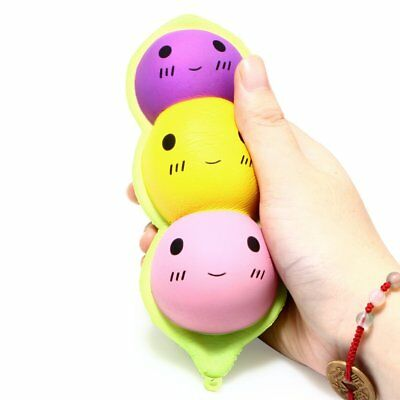 15CM Peas in a Pod Squishy Jumbo Slow Rising Pendant Charm Toy Soft Pinch Relax