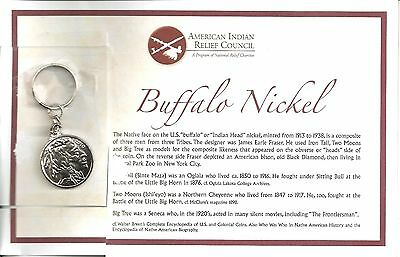Native Americans Buffalo Nickel Limited Edition Coin Replica Keychain