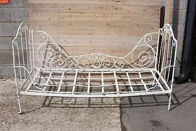 A 19th Century French Wrought Iron Bed