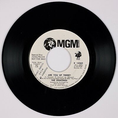 THE OSMONDS: Donny, Marie Osmond ARE YOU UP THERE? DJ Promo 45 NM-