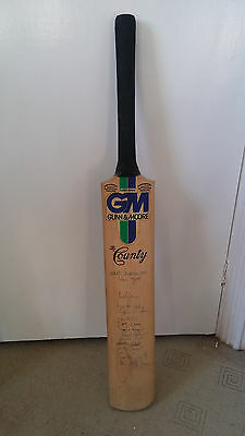 cricket memorabilia bats - signed by the great west indies 1984 tour team