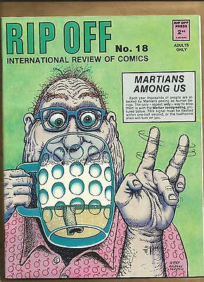 Rip Off Comix 18 vfn/nm Mag 1988 Underground Gilbert Shelton cover, Hunt Emerson