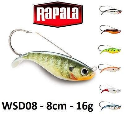 Rapala Weedless Shad Sinking Fishing Lure 8cm 16g Various Colours