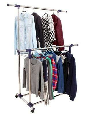 MyGift Large Small Self Standing Best Professional Garment Coat Clothing Rack