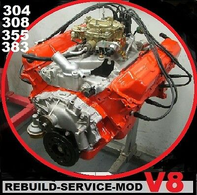 HOLDEN V8 304-308-355-stroker ENGINE WORKSHOP MANUAL  ON CD  HDT HSV