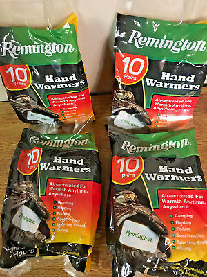 Lot Of 40 Pairs Remington Air-Activated Hand Warmers Ready To Use Exp 8/2018