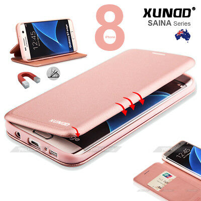 XUNDD Magnetic Leather Wallet Card Holder Case Full Cover for iPhone Xs Max X 8