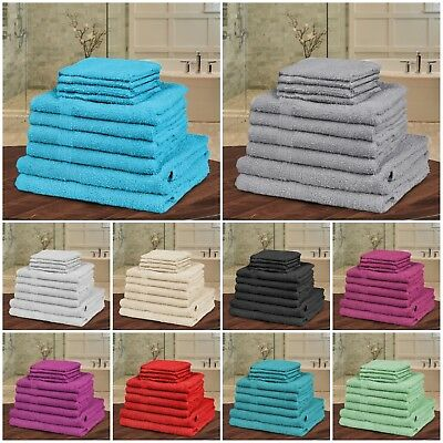 Luxury 10Pc Towel Bale Set 100% Egyptian Cotton Face Hand Bath Bathroom Towels