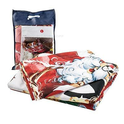 Quilt Duvet Covers Bedding Sets Pillow Case Father Christmas Santa Claus Red Bed