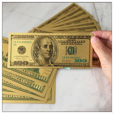 24K Pure .999 GOLD US OLD STYLE 100 Dollar Bill