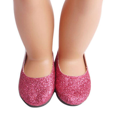 Girl Doll Shoe Lot RED GLITTER Shoes for 18 Inch  Girl Doll Clothes New