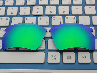 Replacement Green Blue Polarized Lenses for Flak 2.0 XL Sunglasses OO9188