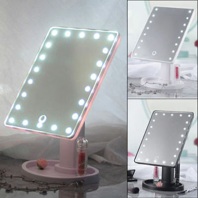 360°Rotation 22 LED Makeup Cosmetic Vanity Light up Mirror Large Touch Screen