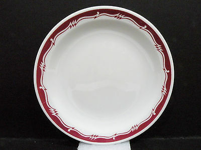"""Bristile - Side Plate  vgc  red zigzag band pattern  (6"""")  1973"""