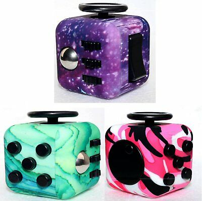 Magic Fidget Cube Camo 6-Side Anxiety Stress Relief EDC Focus Toys Puzzle Gift
