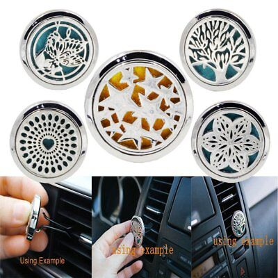 New Stainless Car Air Vent Freshener Essential Oil Diffuser Aromatherapy EU