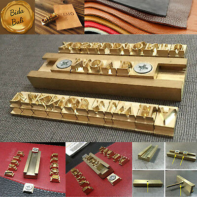 26pcs Alphabet Letters + Fixture Leather Stamp Carving Tool Branding Iron