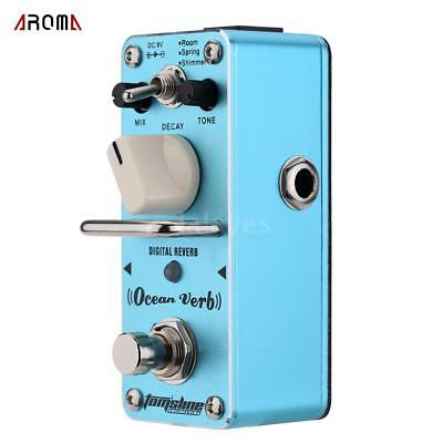 AROMA Digital Reverb Electric Guitar Effect Pedal Effect Durable O0O8