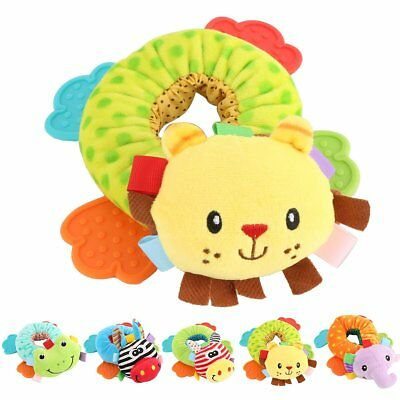 Toddler Newborn Infant Rattles Toy Handbell Cartoon Boy Girl Baby Soft Plush Toy