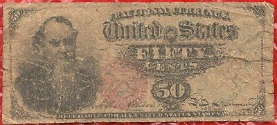 Fr 1376 - 50 Cents - Fourth Issue Fraction Currency - Stanton Note - Rough