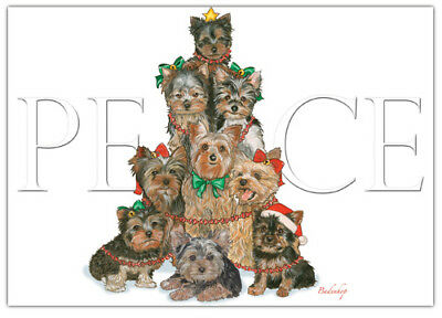 Yorkie Yorkshire Terrier Christmas Cards Set of 10 cards & 10 envelopes