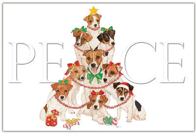 Jack Russell Terrier Christmas Cards Set of 10 cards & 10 envelopes