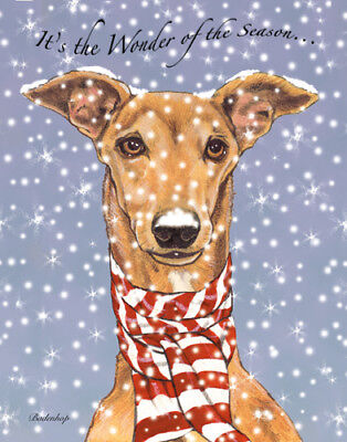Greyhound Fawn Greyhound Christmas Cards Set of 10 cards & 10 envelopes