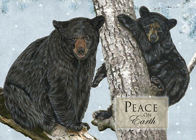 Black Bear Christmas Cards Set of 10 cards & 10 envelopes